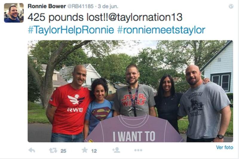 A través de sus redes sociales, Ronnie ha pedido apoyo para conocer a su artista favorita.