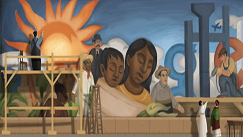 El 8 de diciembre de 2011 se celebró con esta imagen el cumpleaños número 125 del pintor mexicano y esposo de Frida Kahlo.
