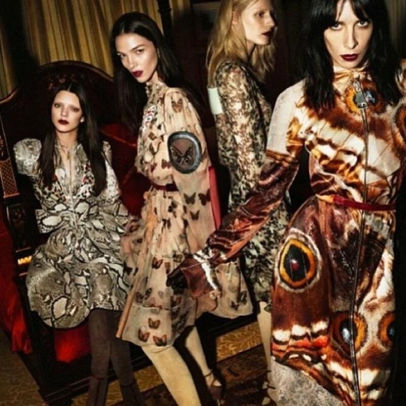 La modelo de 18 años es una de las protagonistas de la campaña otoño 2014 de la reconocida casa de moda francesa.