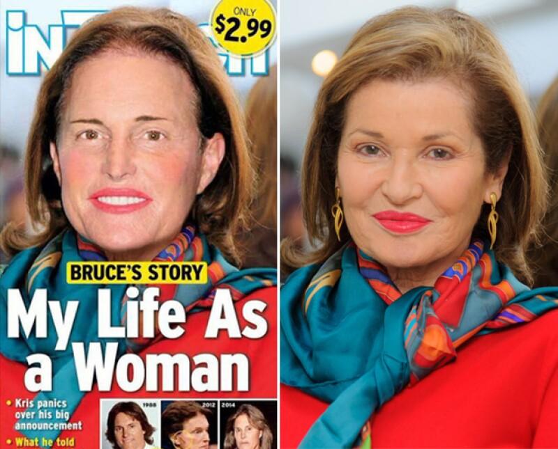 Evidencian que la imagen de portada de la revista In Touch es en realidad un fotomontaje de una foto de la actriz Stephanie Beecham, de 67 años.