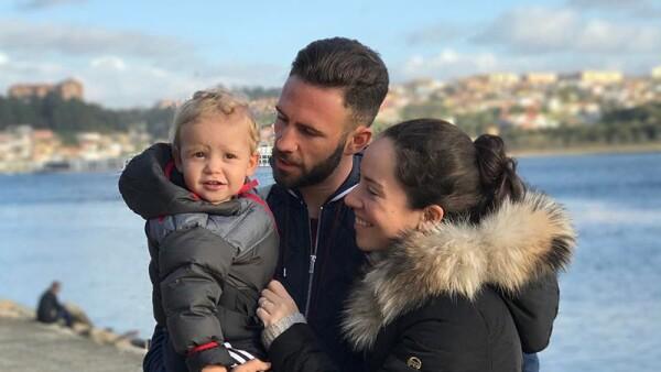 Miguel Layún y su familia
