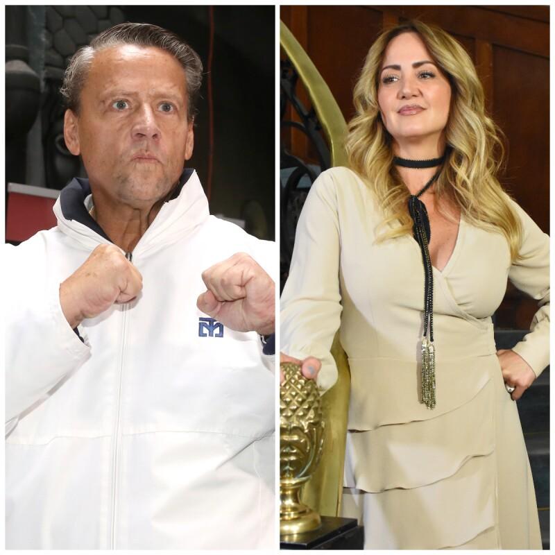 Alfredo Adame y Andrea Legarreta