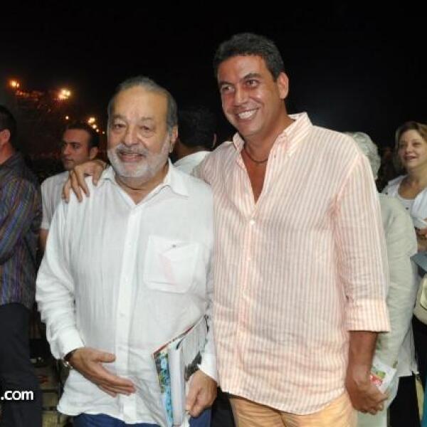 Carlos Slim y Arturo Elías Ayub.