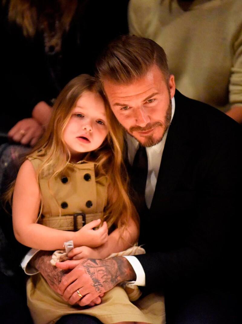 David y Harper Beckham son inseparables.