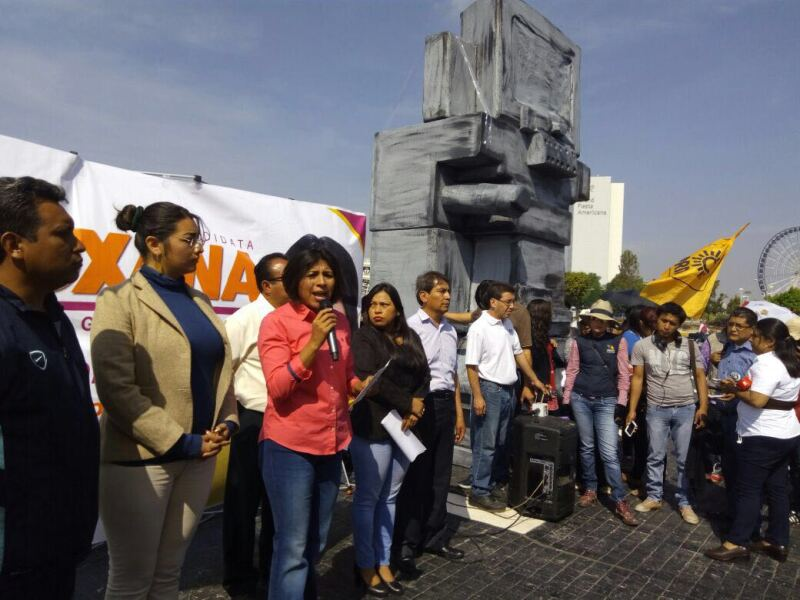 La candidata del PRD, Roxana Luna, prometió