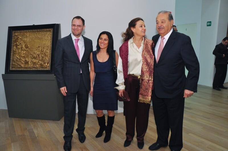 Alfonso Miranda, Sandra Lorenzana, Carmen López Portillo y Carlos Slim.