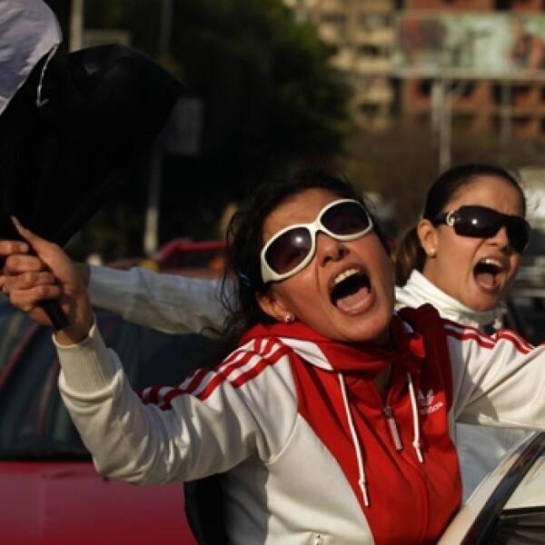 Chica apoya a Mubarak
