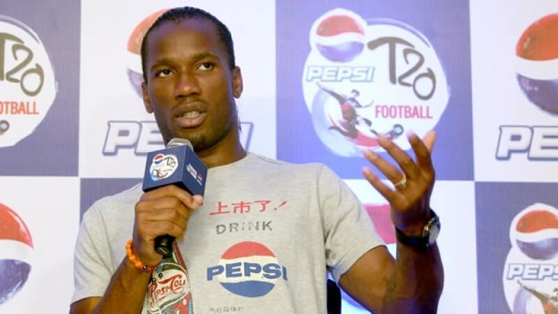Didier Drogba da conferencia
