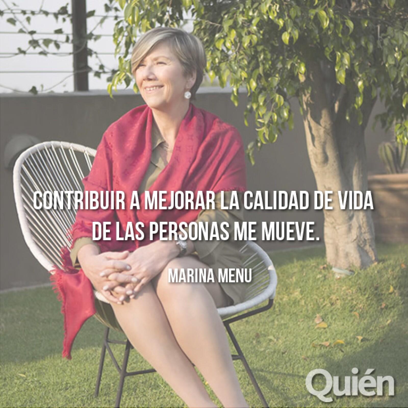 Marina Menu, Directora general de Danone México y Centroamérica. Su altruismo y dedicación la hacen una empresaria de excepción.