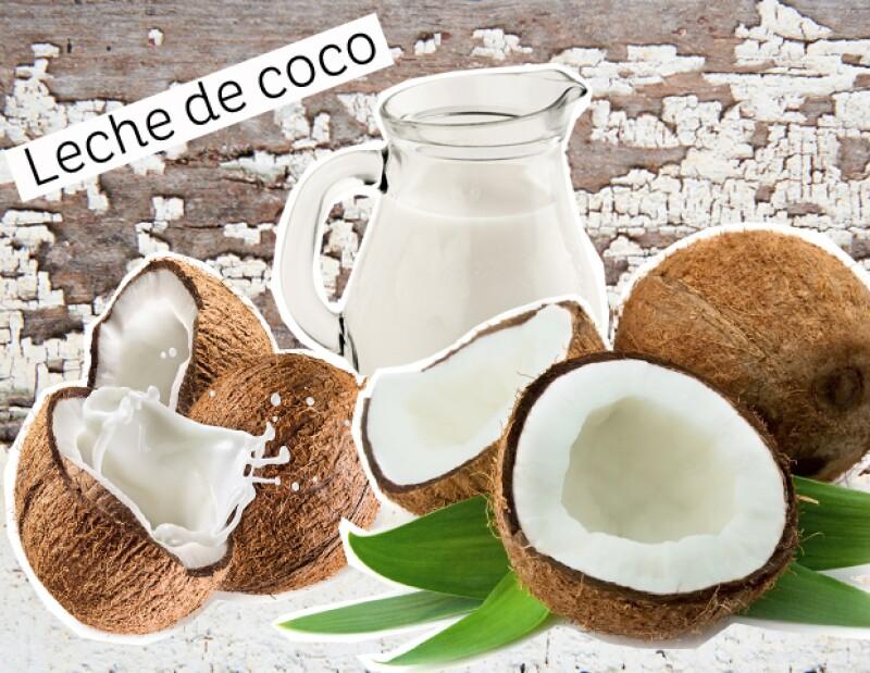Leche de coco para humectar.