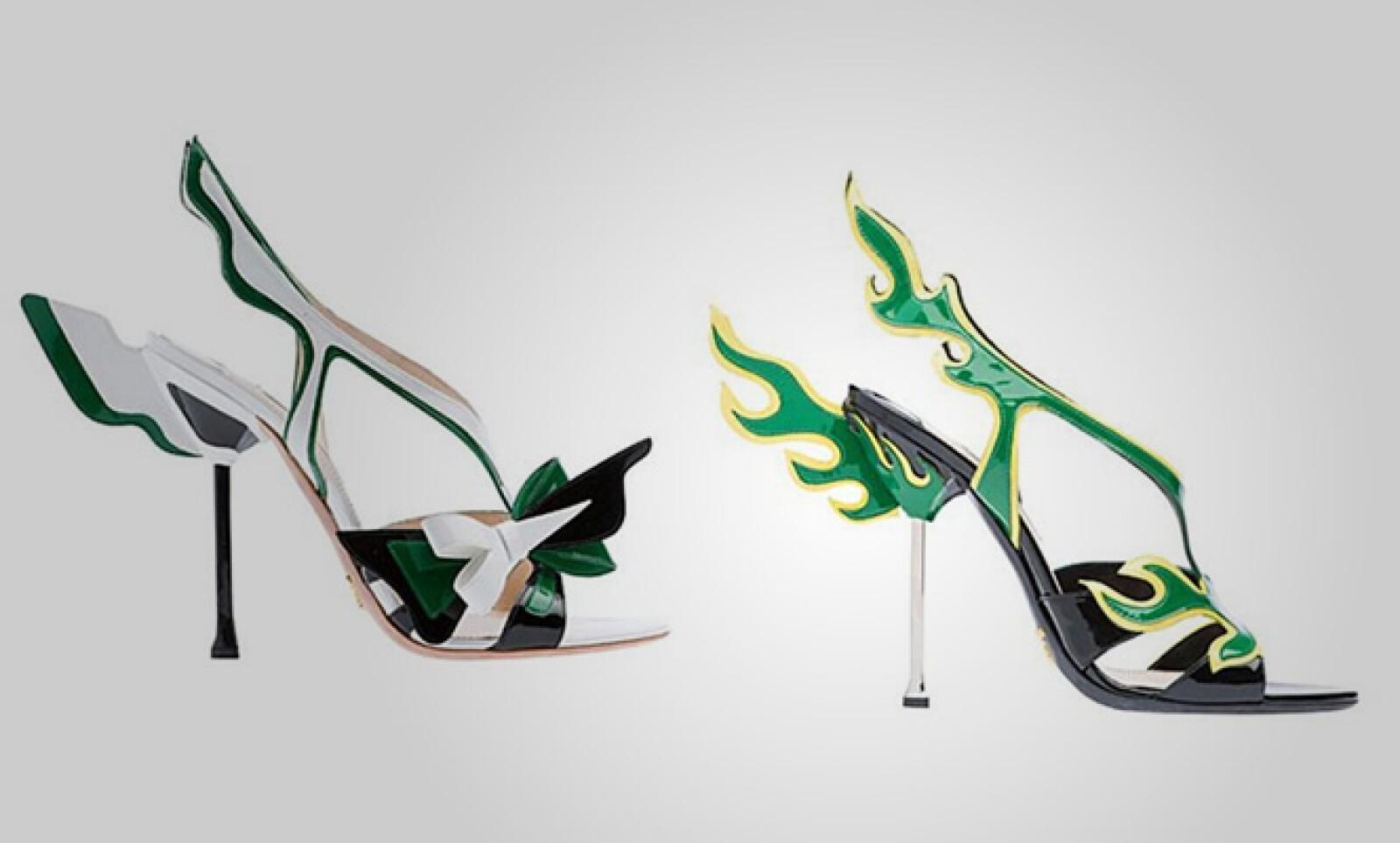 No es la primera vez que se establece un puente entre la industria automotriz, el arte y la moda; la gran diferencia es que Prada comercializará estos zapatos con un precio de 1,450 dólares el par.