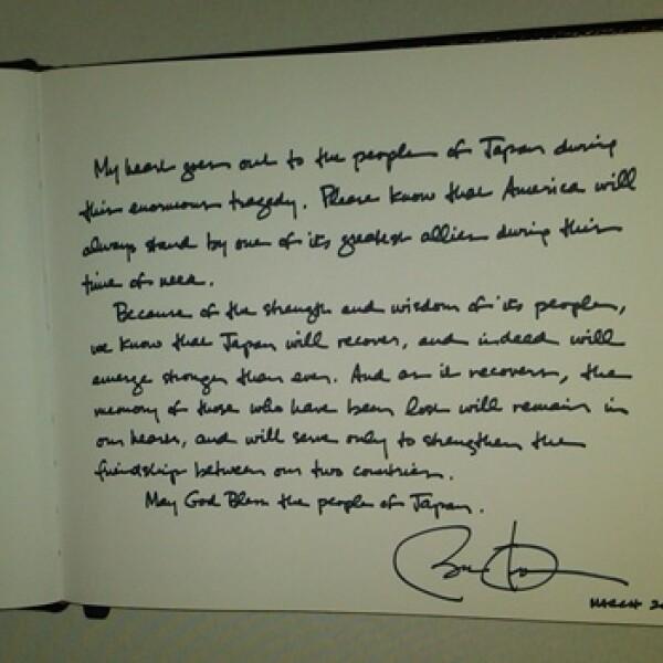 Obama - libro de condolencias