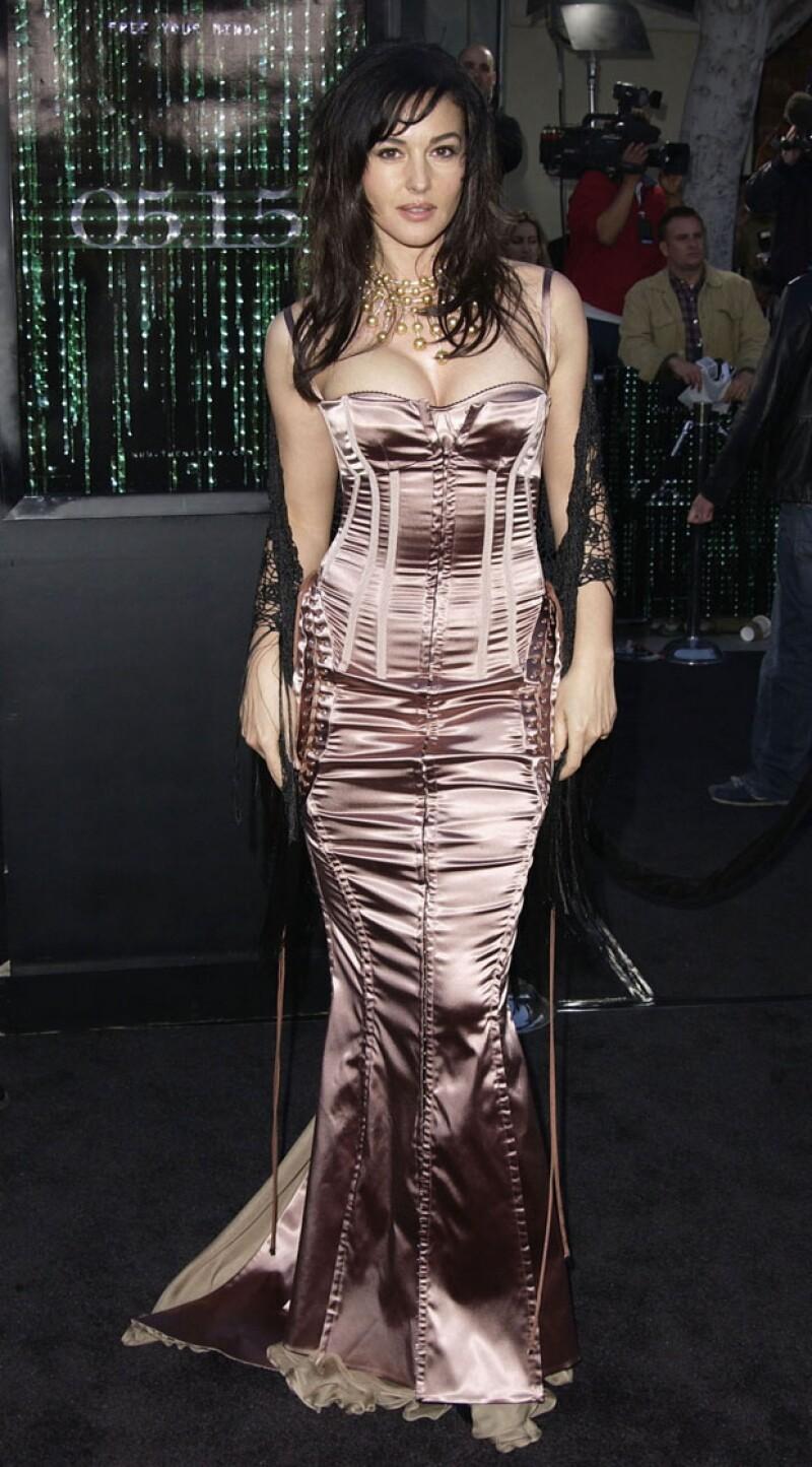 Diva futurista, Monica en la premiere de Matrix Reloades en 2003.