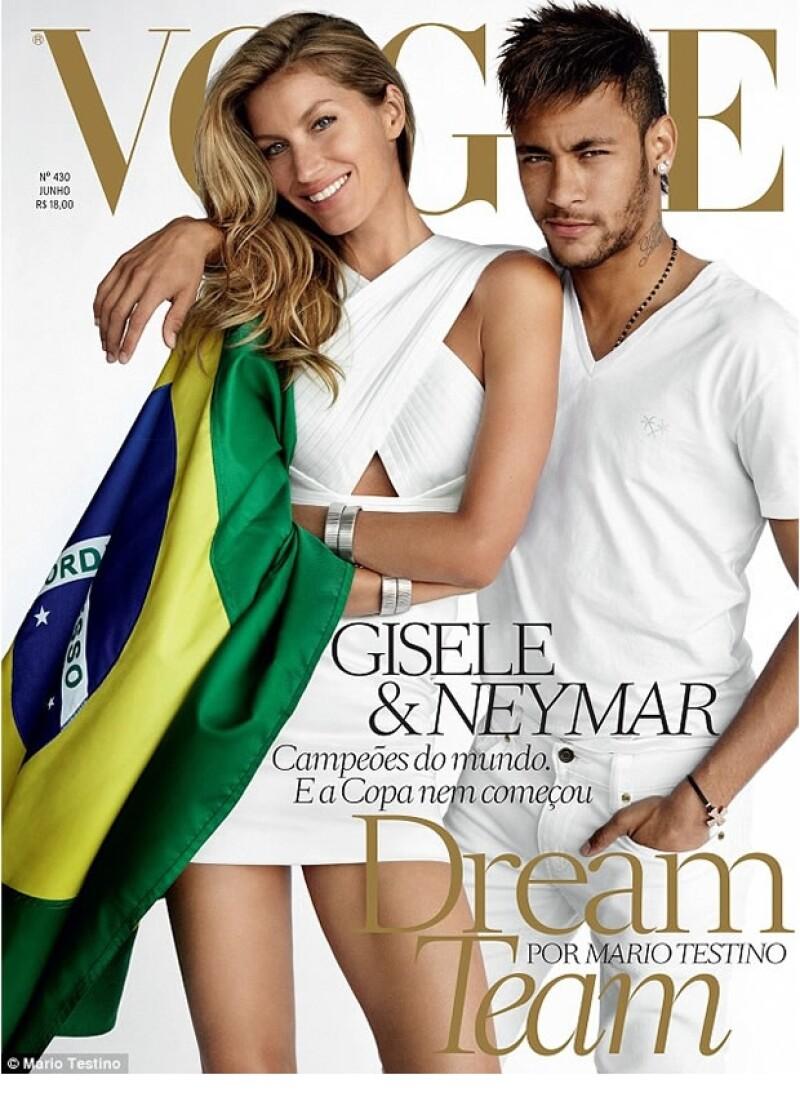 Gisele Bündchen y Neymar Jr posan para Vogue Brasil con motivo del Mundial.