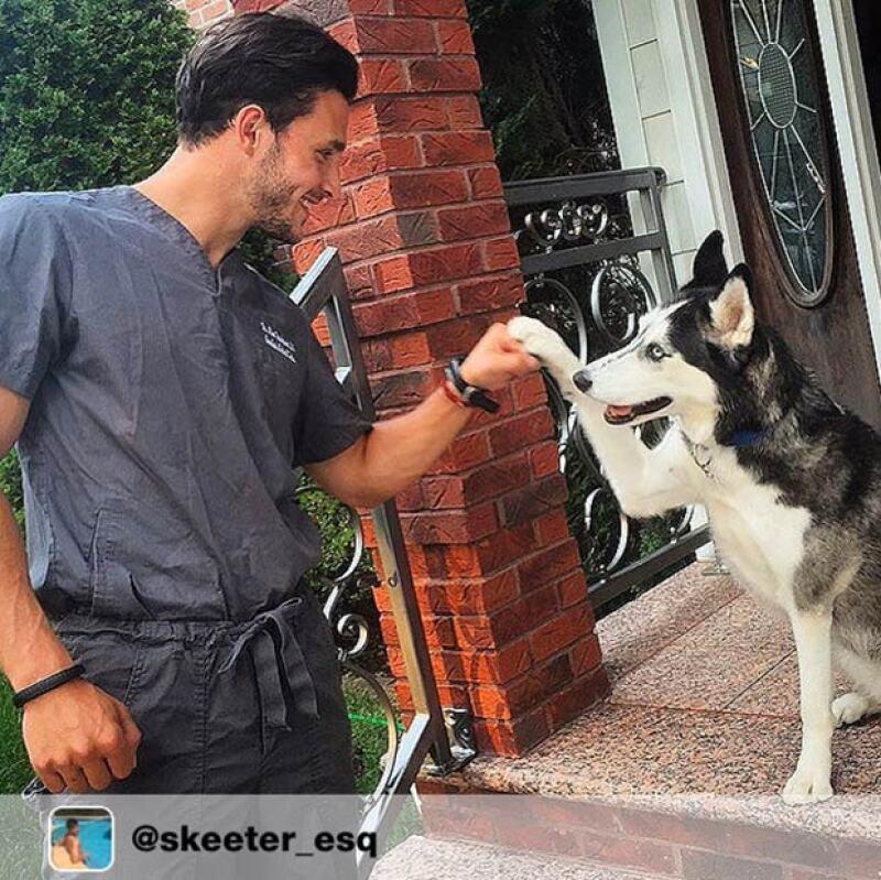 La husky que tanto presume en su cuenta de Instagram se llama Roxy.