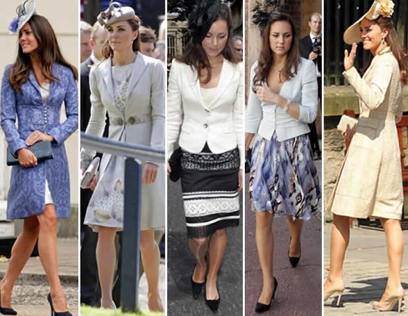 Si de acertar se trata Kate y Pippa son expertas en lucir equilibradamente perfectas en las bodas de sus amistades.