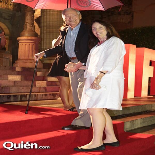 El director Roger Corman y su esposa