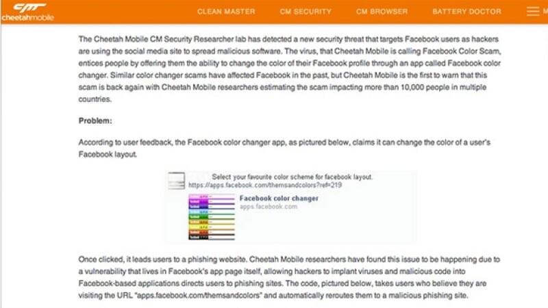 La firma Cheetah Mobile Security detalló en su blog como funciona el engaño mediante el cual se puede descargar ?malware?