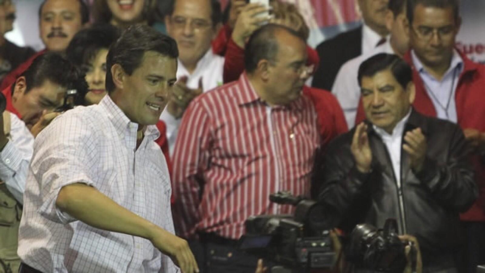 Ya como candidato, fue a Puebla, ahí estuvo Mario Marin