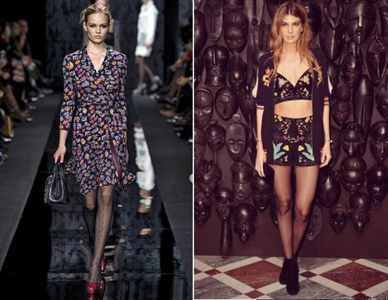 No satures tu look de estampados. Si optas por medias con diseño, elige unas que no compitan con el patrón de tu vestido.