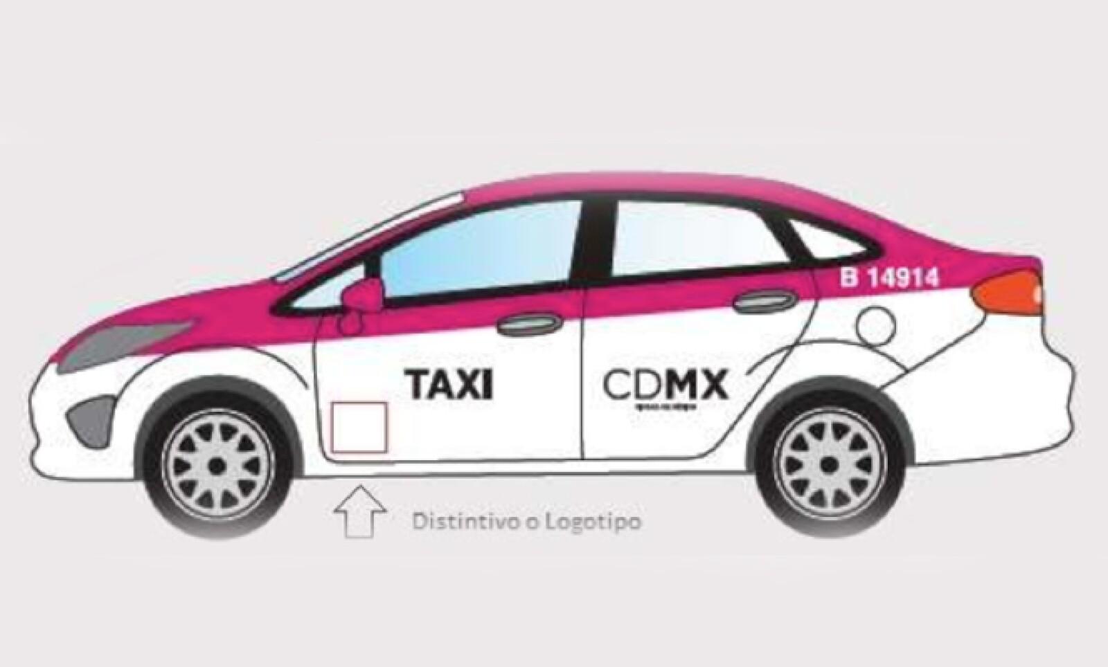 El martes, el Gobierno capitalino anunció cambios en la cromática de los taxis, que dejará de ser dorada con roja para ser blanca con rosa.