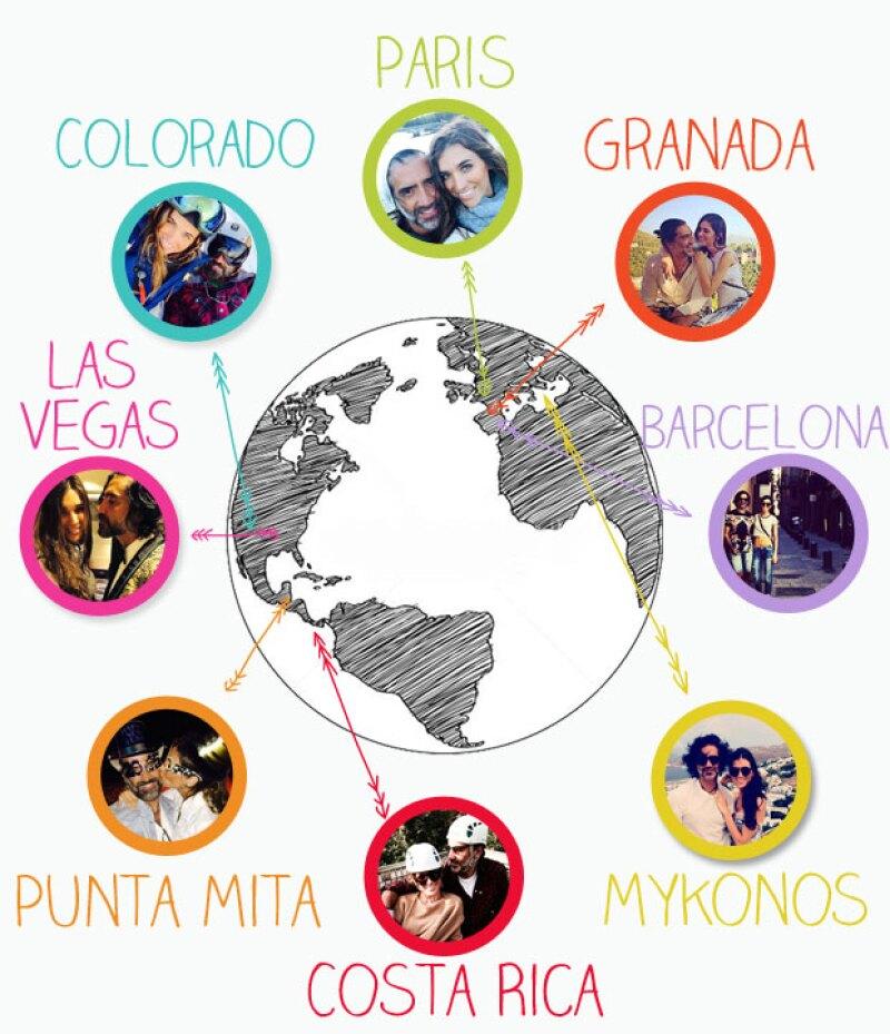 Desde 2013 esta pareja ha disfrutado de su relación en los viajes más envidiables por el mundo. Aquí la historia de los lugares que han visitado juntos los últimos dos años.
