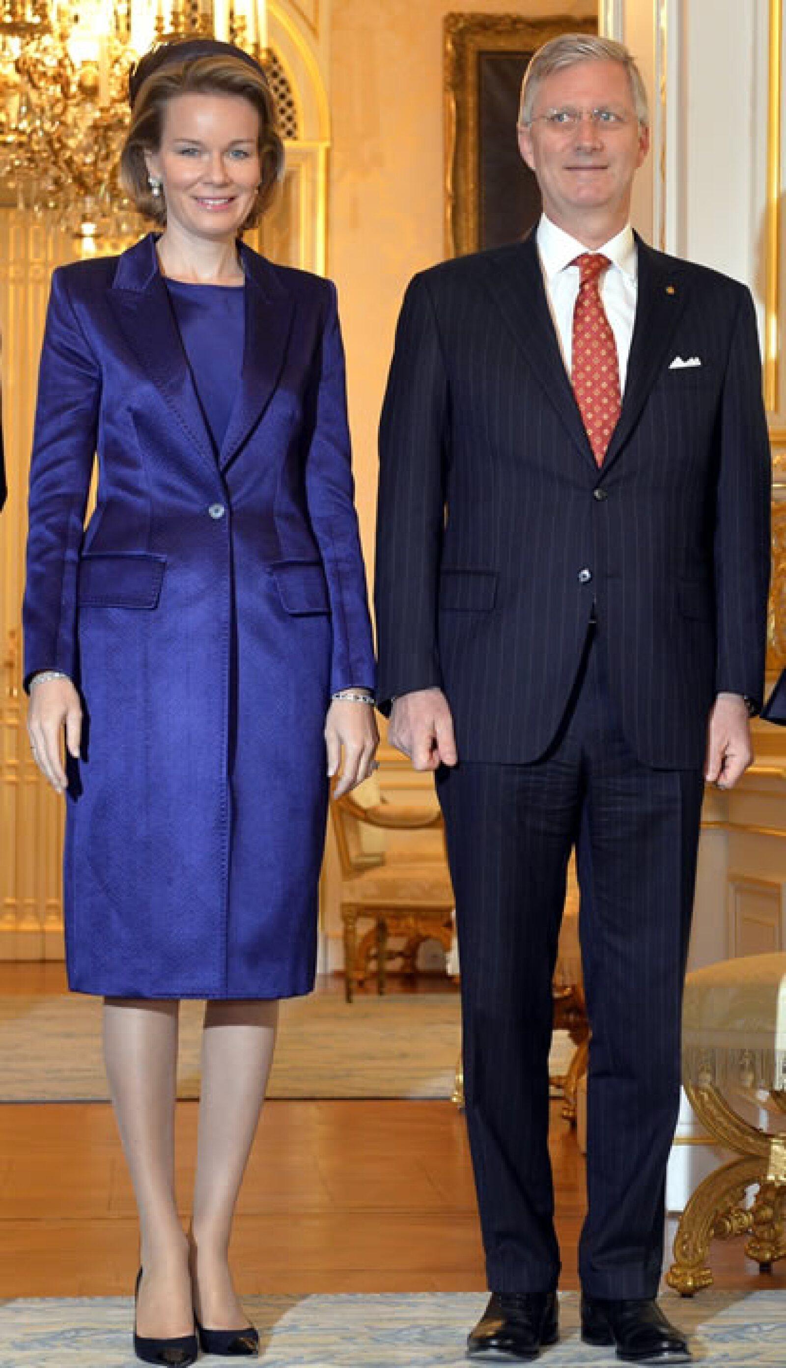 El color azul es uno de sus colores favoritos para vestir.
