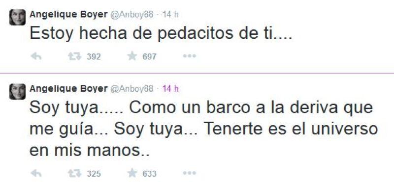 Angelique Boyer demostró en Twitter lo enamorada que está de Sebastián Rulli.