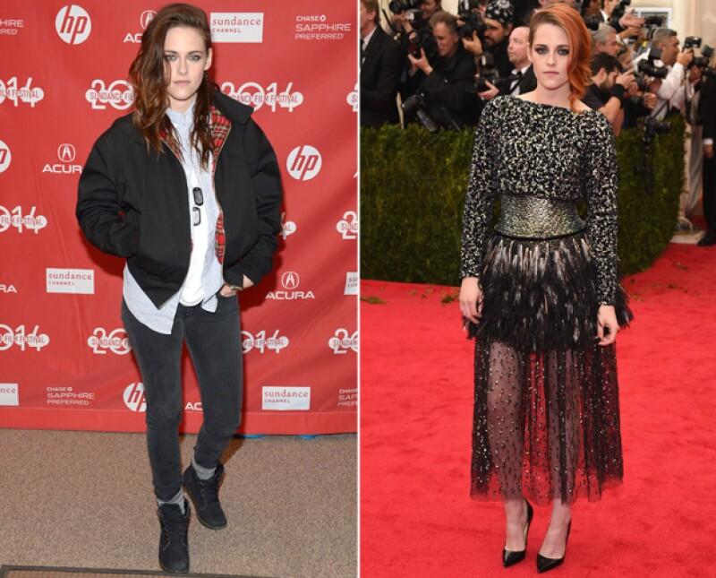 Para ocasiones especiales Kristen es amante de las transparencias y de los pointy shoes.