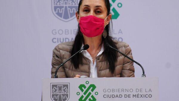 La jefa de gobierno, Claudia Sheinbaum, durante su participación en la conferencia.