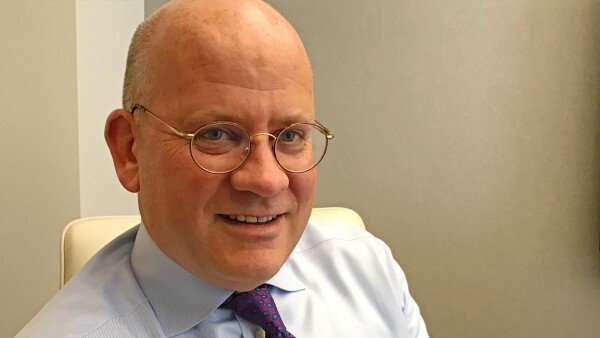 General Electric CEO John Flannery is seen at the company's office in New York City