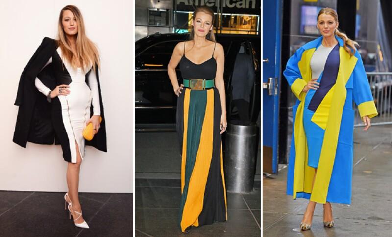 Desde su primer outfit a unas semanas de haber dado a luz, hasta uno de los más recientes, mismos que muestran que el color amarillo es el preferido de la actriz.