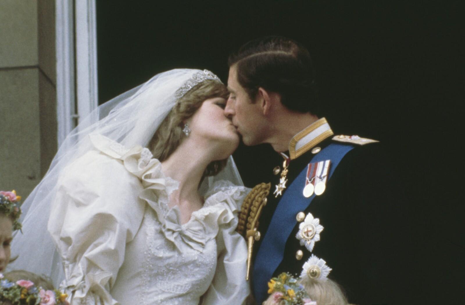 El príncipe Carlos y Ladi Di el día de su boda.