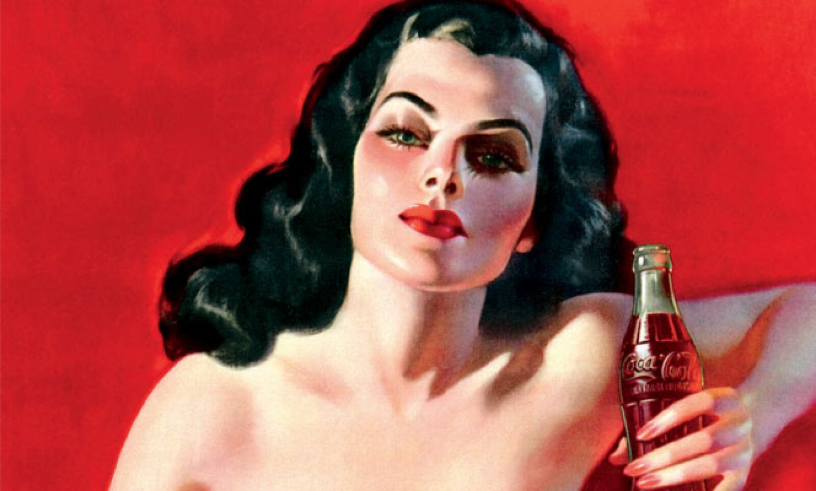El famoso anuncio de la 'Dama de Rojo' de Brasil de 1950.
