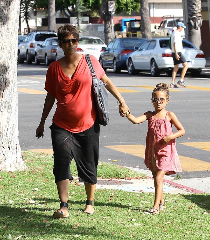 Halle Berry junto a su hija mayor, Nahla.