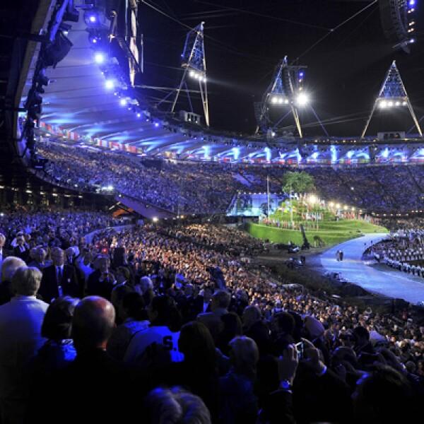 La ceremonia fue realizada en el Estadio Olímpico de Stratford, al este de la capital británica.