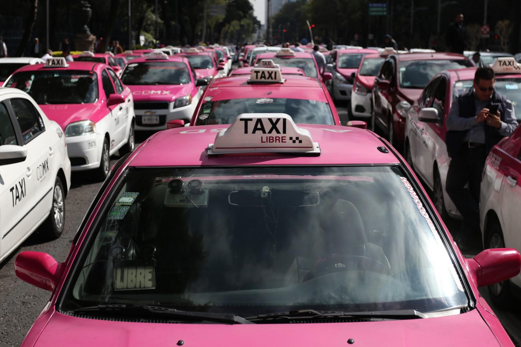 Marcha Taxistas cdmx