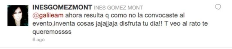 Inés Gomez Mont comentó lo publicado por Paty Chapoy a Galilea, lo que provocó la molestia de la conductora.