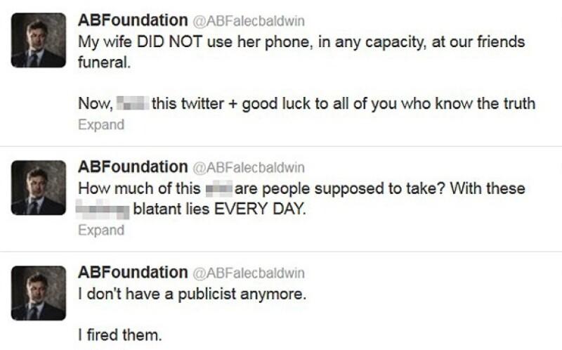 Alguno de los tuits mandado por el actor.