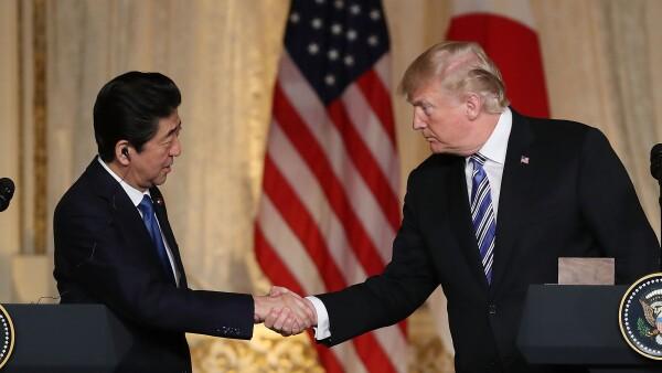 Trump y Abe