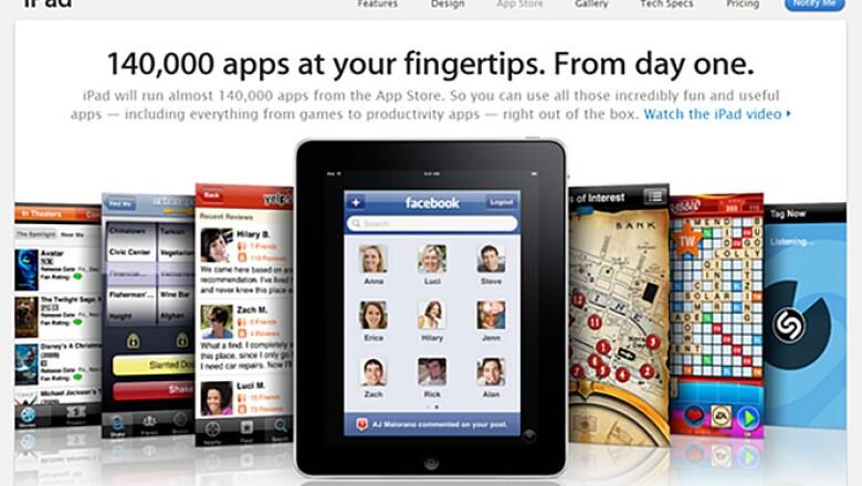 Aunque el iPad todavía no está a la venta, ya existen más de 140, 000 aplicaciones.