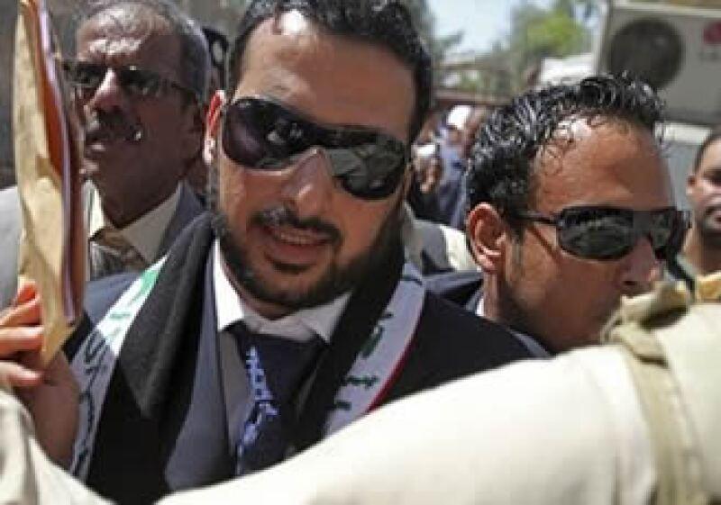Muntadhar al-Zeidi al momento de su liberación. (Foto: AP)