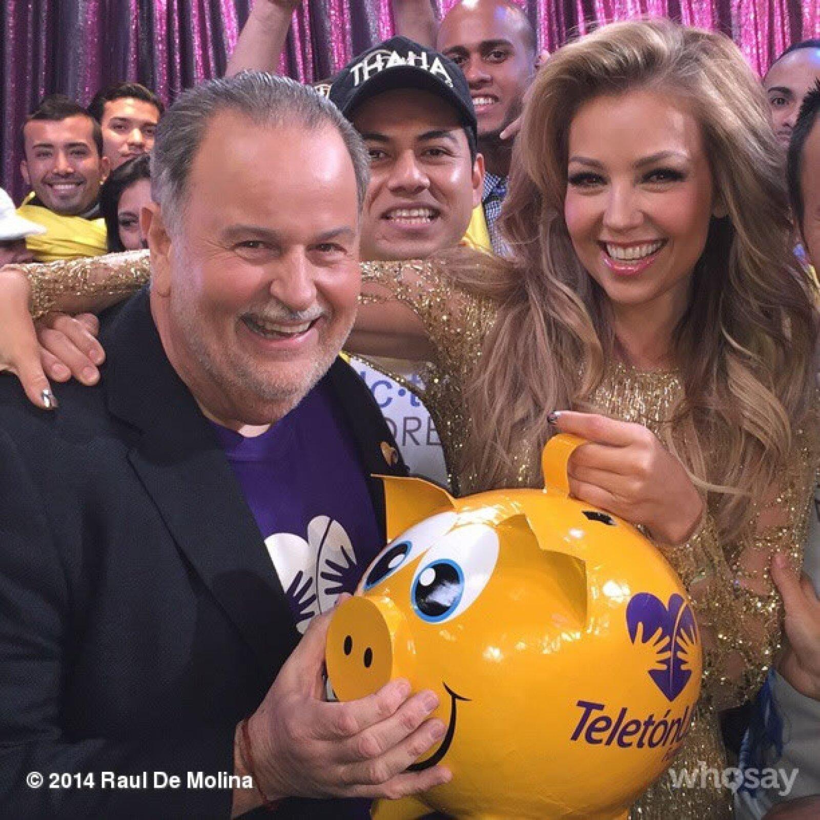 Estuvo junto a Raúl de Molina en la transmisión.