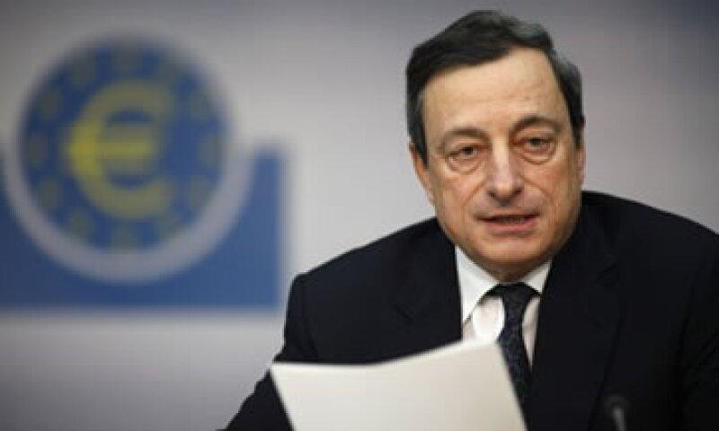 Draghi señaló que el programa de compra de bonos no es infinito. (Foto: Reuters)