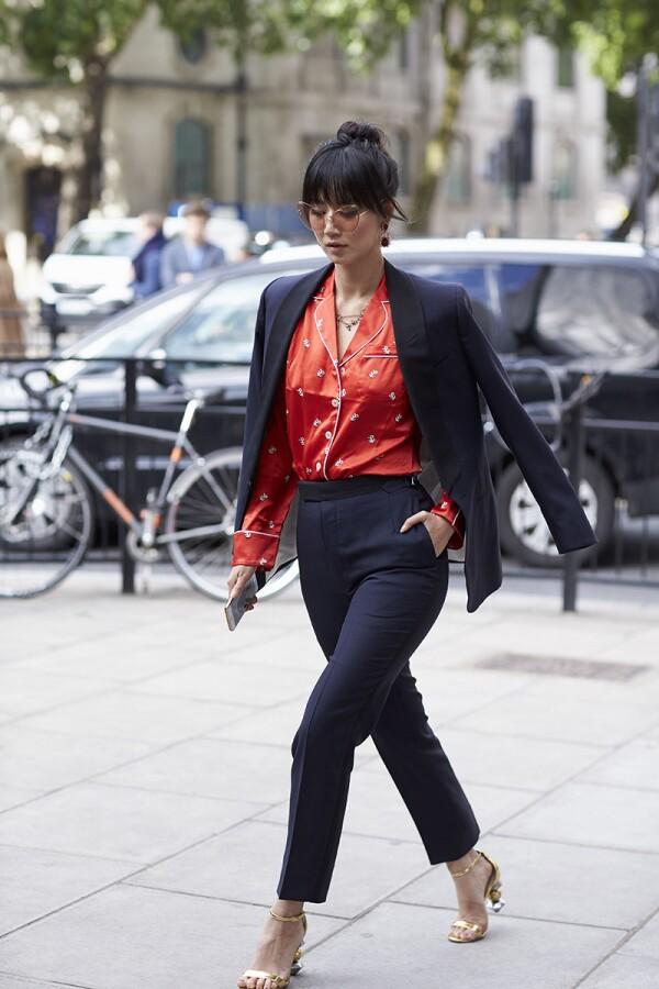 Street Style, Spring Summer 2018, London Fashion Week Men's, UK - 09 Jun 2017