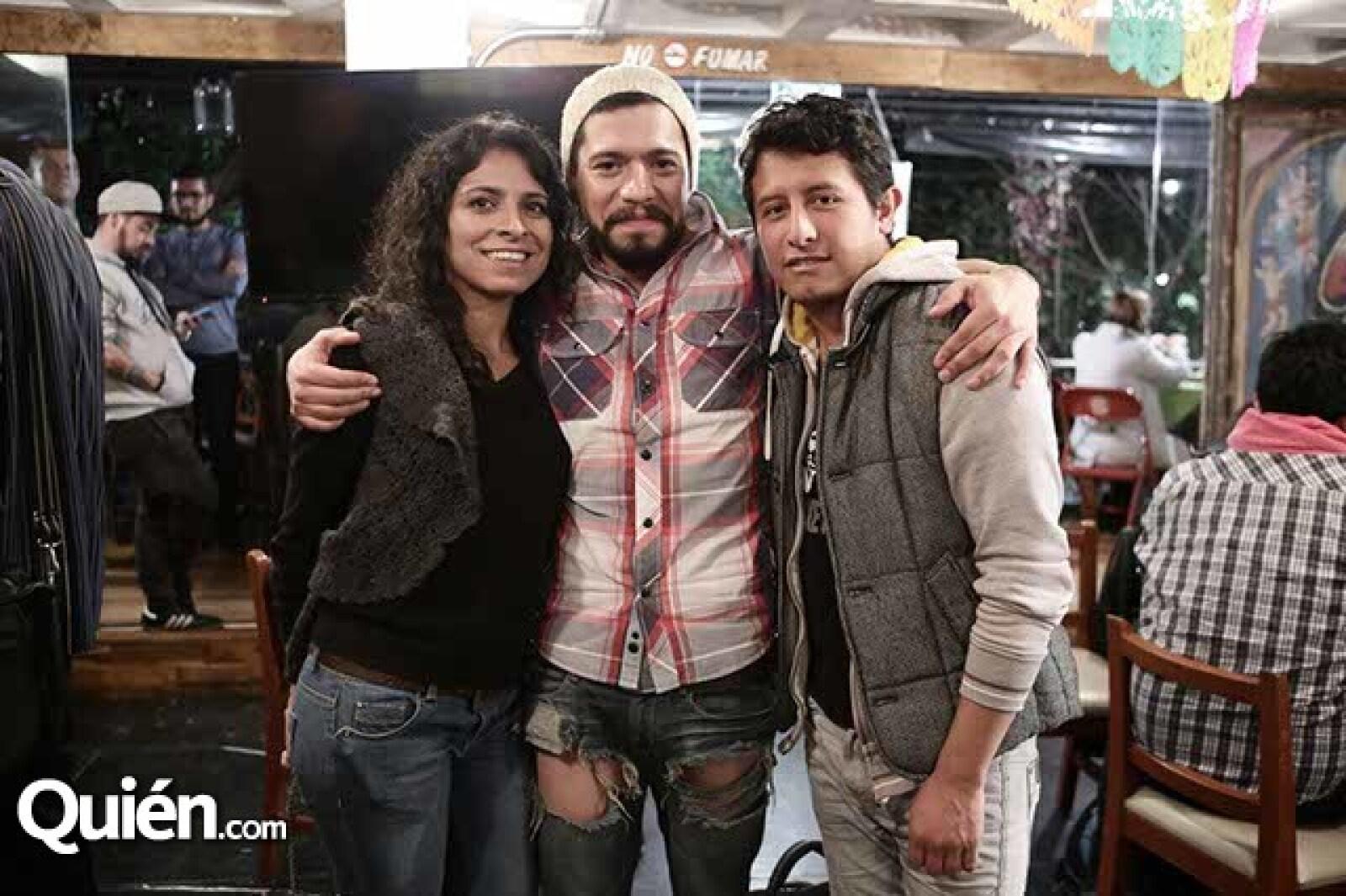 Liliana Sánchez,Jesús Cantera y Martín Ángeles