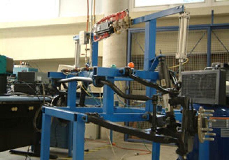 El ITAM desarrolló un simulador de la suspensión de un camión de la marca GM para mejorarla (Foto: William Turner)