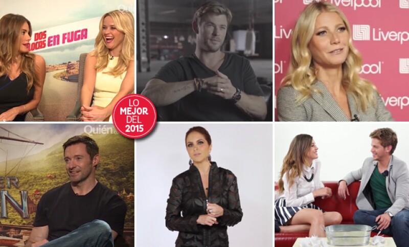 Sofía Vergara, Chris Hemsworth y Hugh Jackman son algunos de los muchos famosos que pasaron este año por la cámara de Quién. Hacemos un recuento de todos ellos.