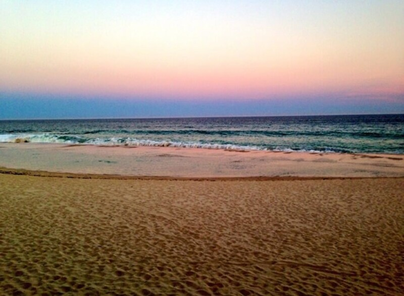 `Rise and shine paradise style´(Amanecer al estilo paraíso), fue lo que escribió Lea junto a esta imagen del mar.