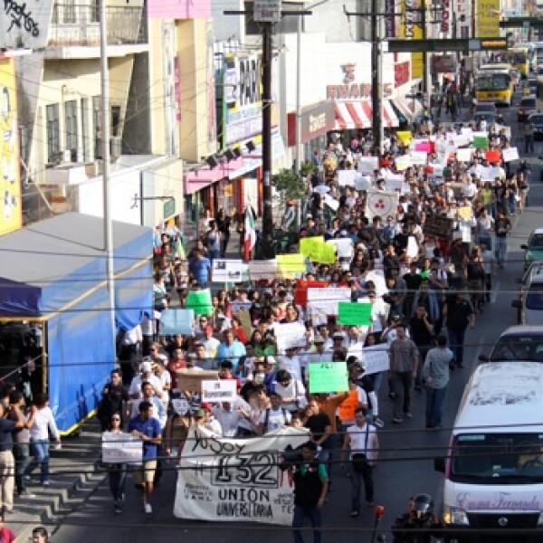 marcha 132 Monterrey 2
